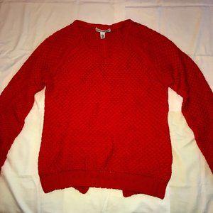 COTTON BY AUTUMN CASHMERE split-back sweater